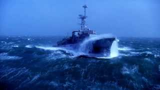 Warship vs Big Waves-1