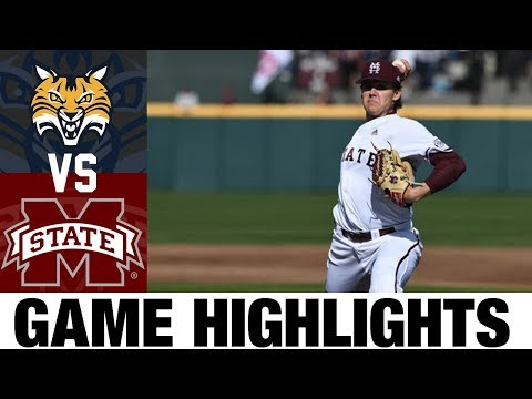 Quinnipiac Vs  #19 Mississippi State Highlights | Game 2 | 2020 College Baseball