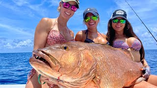 Catching HUGE Snapper in Key West!! GIRLS birthday trip