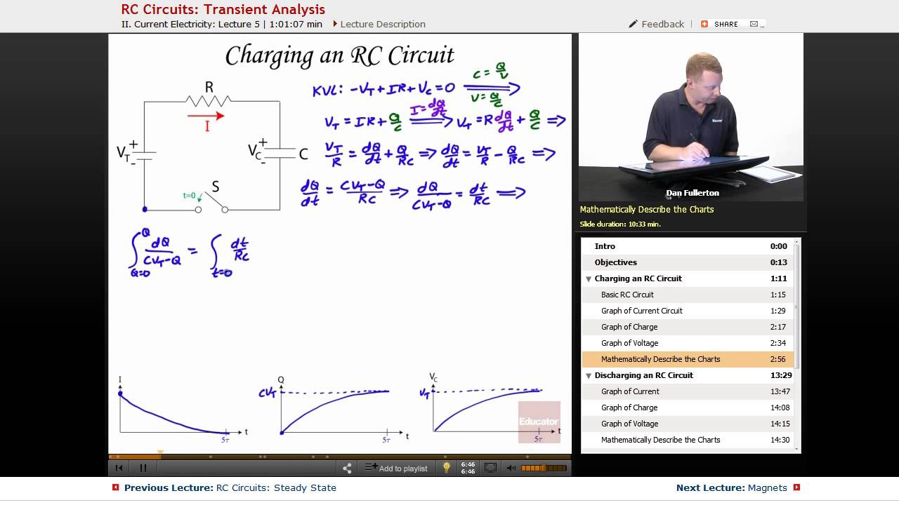 """""""RC Circuits: Transient Analysis""""   AP Physics C: Electricity & Magnetism with Educator.com"""