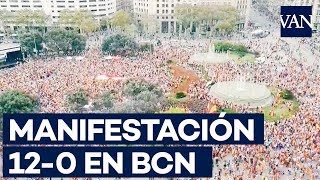 [12-O] Vista aérea de la manifestación unionista en Barcelona