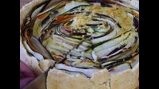"Easy Spiral Vegetable Tart Recipe | Овощной пирог ""Осеннее Солнце"""