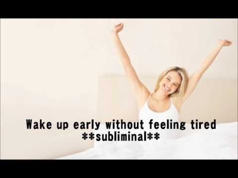 Wake Up Early Without Feeling Tired! **subliminal+binaural beats**