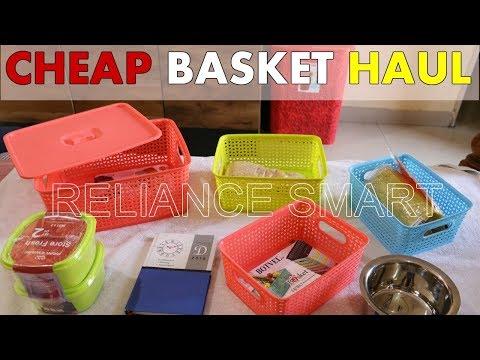 Basket Haul | Reliance Smart | Reliance Smart Basket  Kitchen Organizer Haul | SuperStylish Namrata