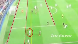 Real Madrid vs PSG / Fuera de juego de Kroos previo al penalti del 1-1.  14/02/2018