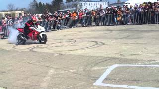 Bike burnout and donuts