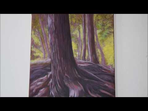 Acrylic Painting Techniques – Backlit Trees