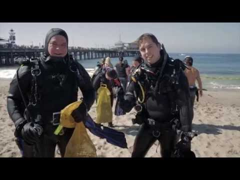 Underwater CleanUp Dive at Santa Monica Pier with Heal the Bay