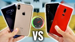 iPhone XS Max VS Note 9 VS P20 Pro VS OnePlus 6 : Rapidité