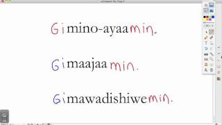 Ojibwe Language Lesson Niinawind and Giinawind