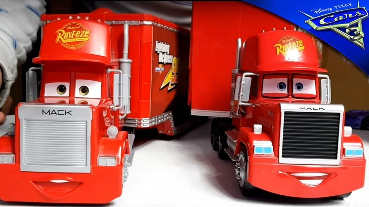 los 2 mack de cars 3 el camion de rayo mcqueen juguetes disney pixar mack truck lightning. Black Bedroom Furniture Sets. Home Design Ideas