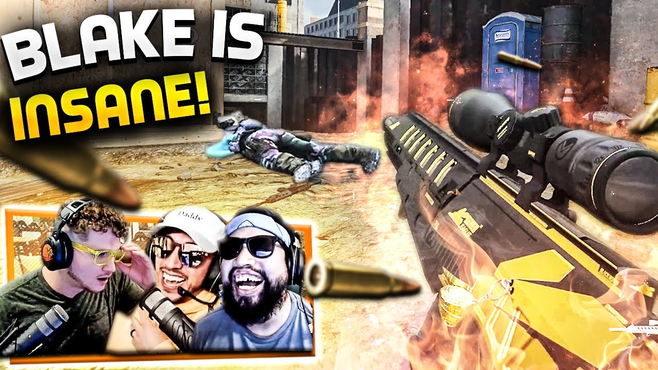 BLAKE HITS HIS *BEST* MODERN WARFARE SNIPER CLIP!!