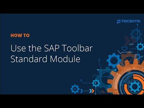 How To: Use The SAP Toolbar Standard Module