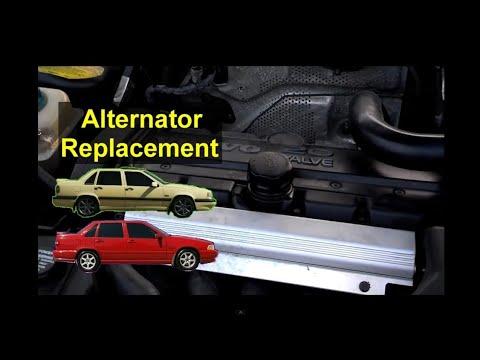How to replace the alternator, not charging, bad, noisy, Volvo 850, S70, V70, V70 XC, V70R – REMIX