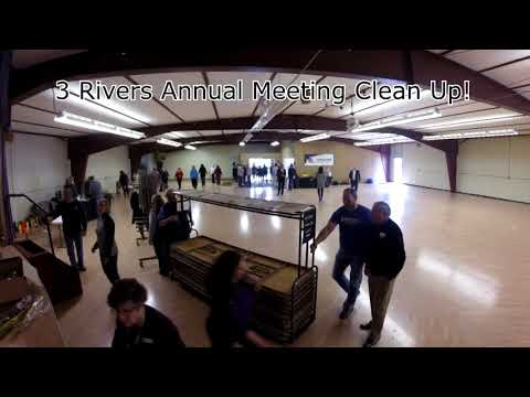 3 Rivers Annual Meeting Time Lapse Cleanup 2018