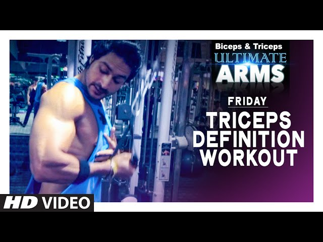 Friday: TRICEPS DEFINITION WORKOUT   Ultimate Arms   by Guru Mann