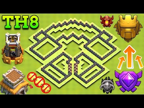 BEST TOWN HALL 8 (TH8) TROPHY BASE 2017 | CLASH OF CLANS