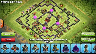 clash of clans ; base townhall 10 terbaru 2016 anti loot 100 000 amazing ( episode 1)
