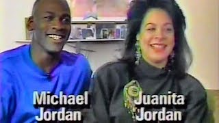 Michael Jordan Rare 1991 Interview with wife Juanita @ their home in Chicago suburbs