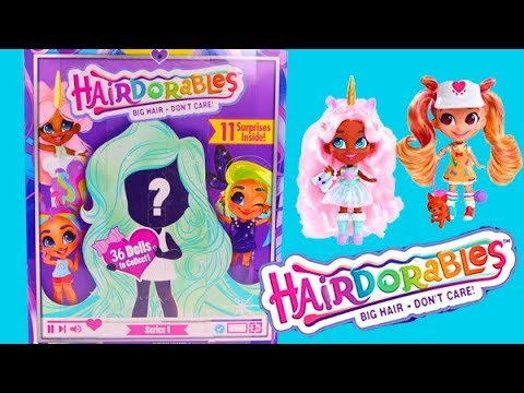 Hairdorables Big Hair Don T Care Surprise Dolls Series 1 Youtube