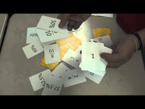 Teacher Tips: Class Game - Onespeed! Fraction, Decimal, % Equivalency