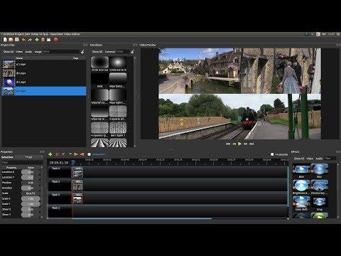 OpenShot: Create Split Screen Video Clips. A Video Editing Tutorial.