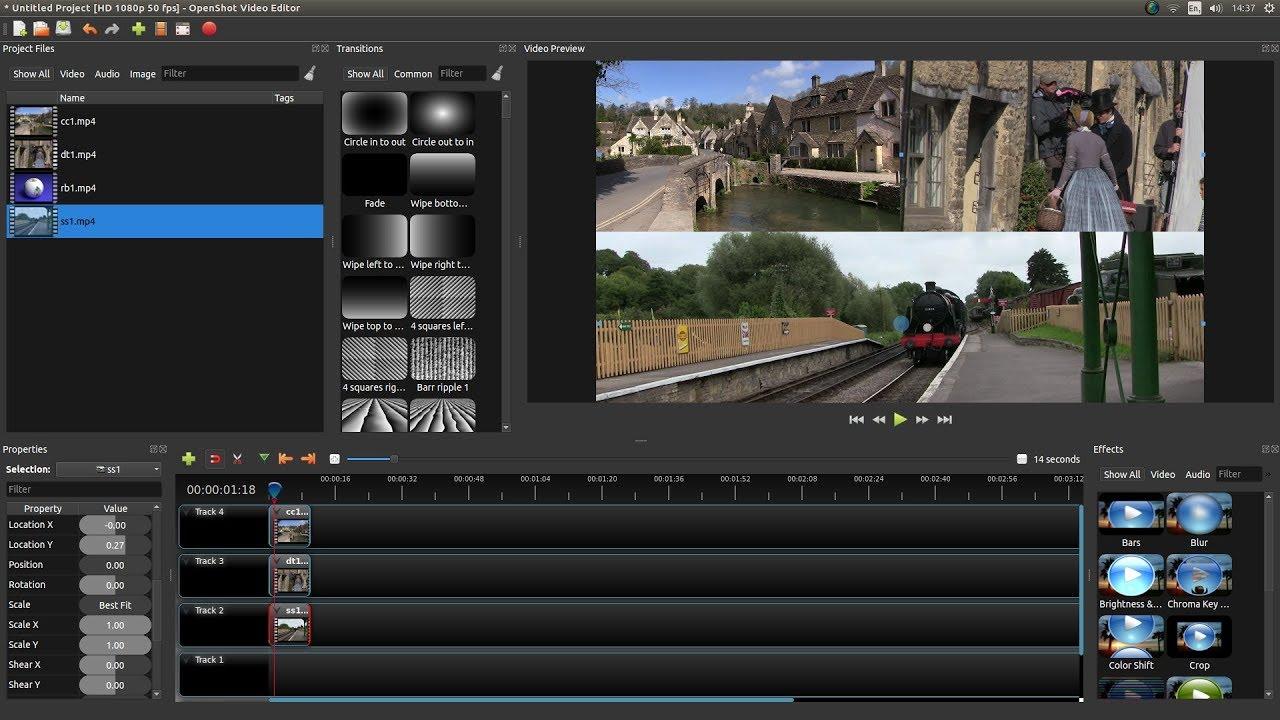 OpenShot: Create Split Screen Video Clips. A Video Editing ...