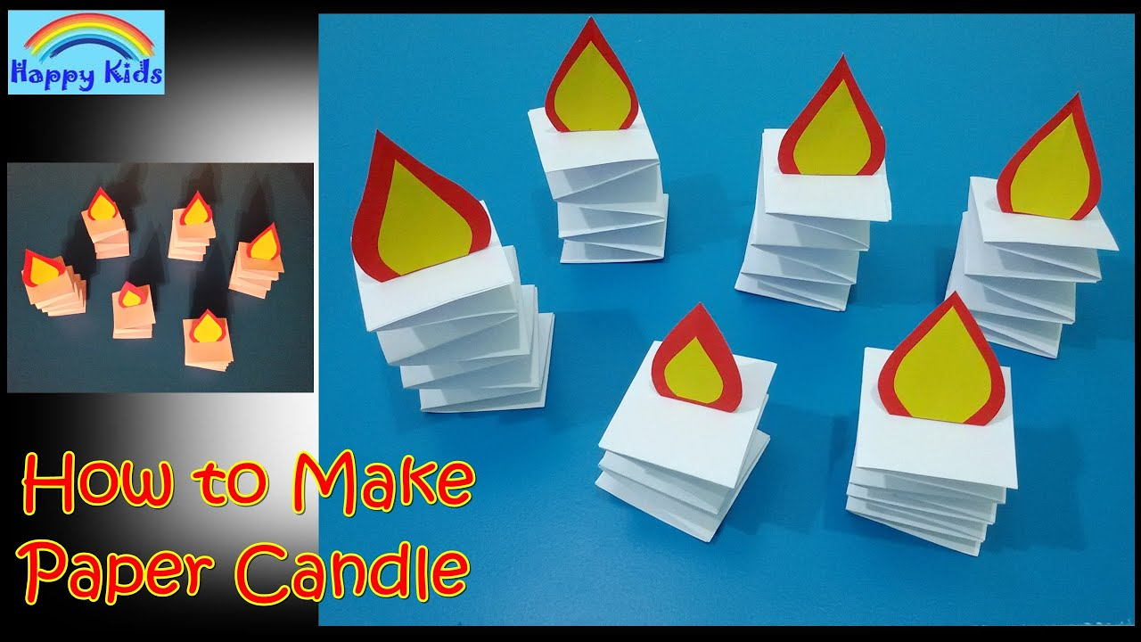 How To Make Paper Candle Happy Kids
