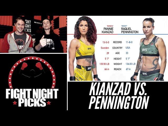 UFC Fight Night: Pannie Kianzad vs. Raquel Pennington Prediction