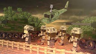 Minecraft | VIETNAM BASE DEFENSE! Vietnam War Mod Showcase! (War, Guns, Vehicles)