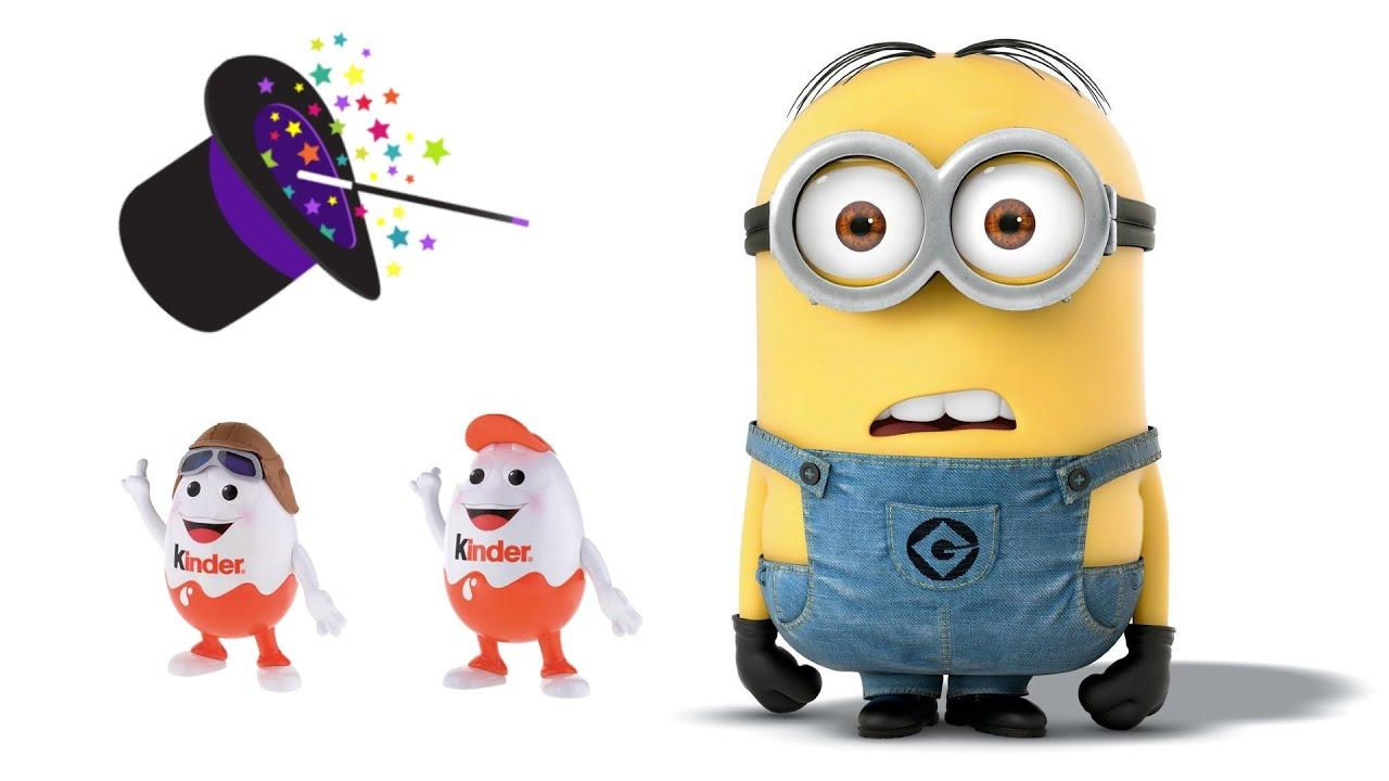 Magic tricks Kinder Surprise Eggs Minions, GoMove, Youmitik, Crazy Friends