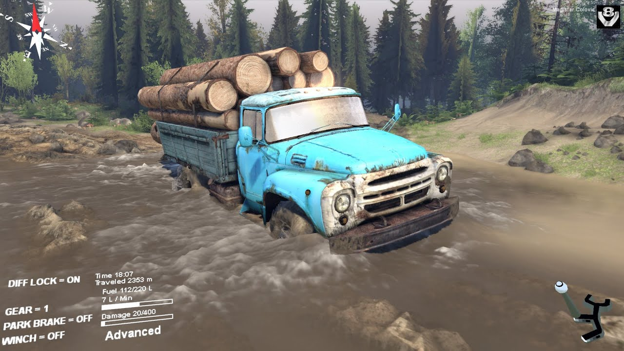 Spintires zil 130 delivering logs coast map youtube sciox Images