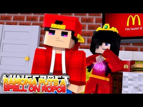 Minecraft Adventure - RAMONA PUTS A SPELL ON LITTLE ROPO!!! - Видео из Майнкрафт (Minecraft)
