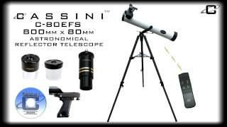 Cassini C-80EFS 800mm x 80mm Reflector Telescope