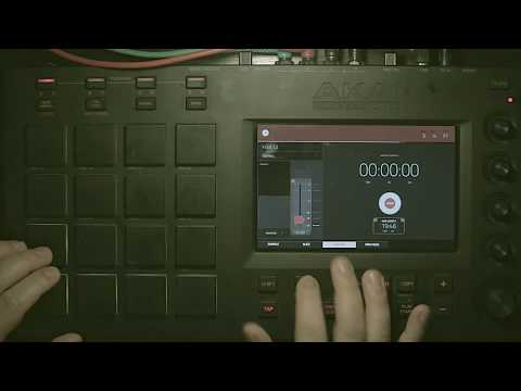 MPC Touch / Live / X Sampling straight to a pad - record and loop - live performance techniques