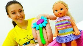 Поделки ПлейДо: цветы для Барби своими руками