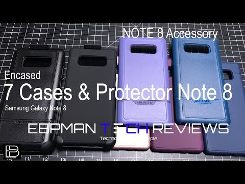 Seven Cases and (Don't Buy Glass Screen Protector) for the Samsung Galaxy Note 8 from Encased