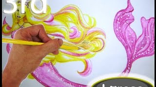 Speed Drawing Mermaid Barbie