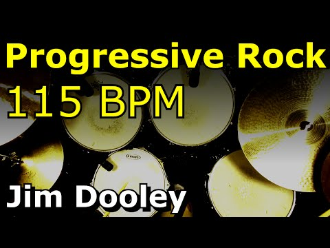 Backing Track - Progressive Rock Drum Beat 115 BPM - JimDooley.net