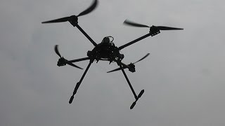 Flight of the Giant Quadcopter Part 2