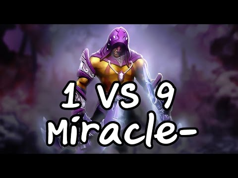 1 VS 9 Antimage Miracle-