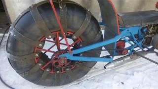 Снегоход с одним колесом .Грунтозацепы