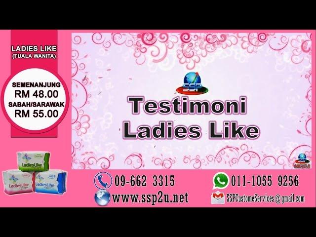 Testimoni SSP 1 (Ladies Like-Tuala Wanita)