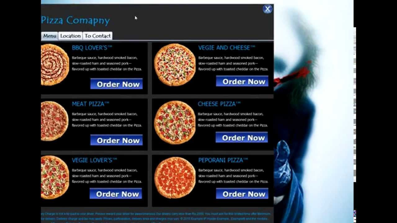 Pizza Ordering System Using Java