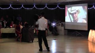 Surprised mom swept out of her wheelchair at son's wedding dance