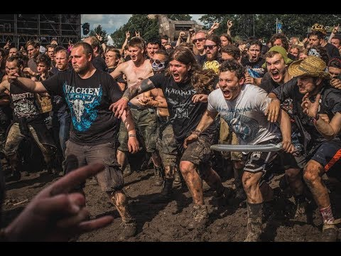 Wacken 2017 - extrem emotions: wall of death, crowd surfing, circle pit, mosh pit...