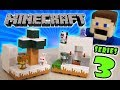 Minecraft Mini Figures Playsets SERIES 3! Snowy Biome Collection Playsets Unboxing Puppet Steve