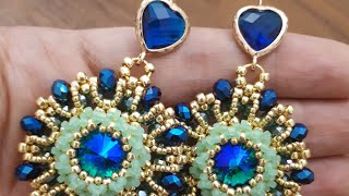 DIY Earrings/Tutorial ITALIANO/Orecchini Anna/Tessitura perline