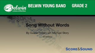 Song Without Words arr. Michael Story - Score & Sound