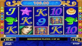Quick Win On Free Spin Bonus Mermaids Gold Slot Machine